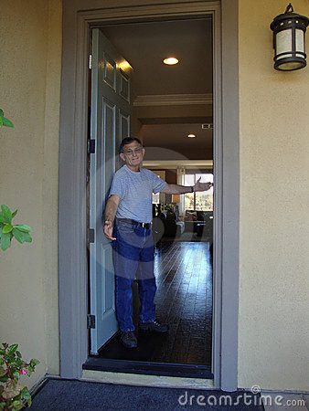 Man at Open Front Door