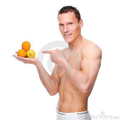 Man with fruits