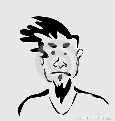 Man with funny hair
