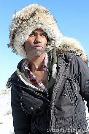 Man with Fur Cap