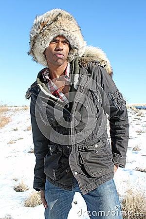 Man with Fur Cap