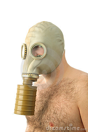 Man with gaz mask