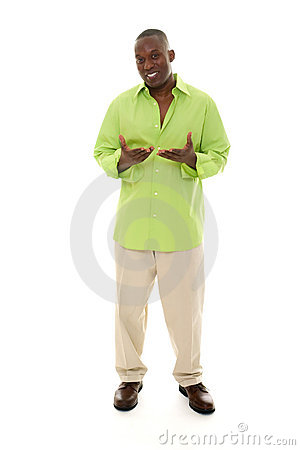 Free Man Gesturing Stock Images - 7041394