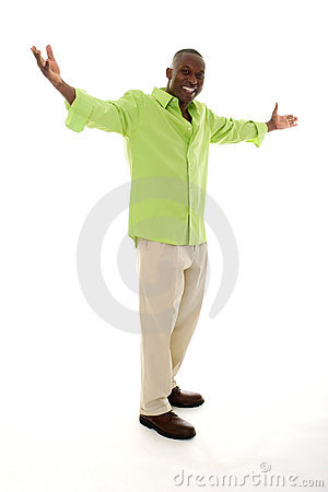 Free Man Gesturing With Hands Apart Royalty Free Stock Photo - 7041395