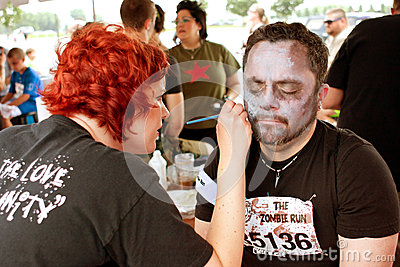 Man Gets Zombie Makeover From Makeup Artist Editorial Photography
