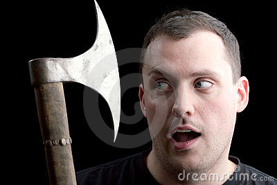 A Man Getting the Axe