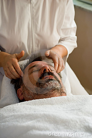 Man getting facial