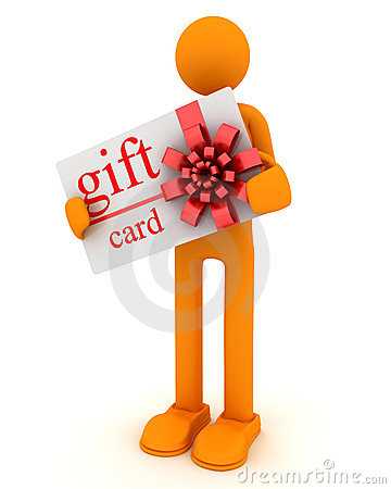 Man and gift card