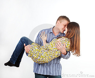 Man is a girl in his arms