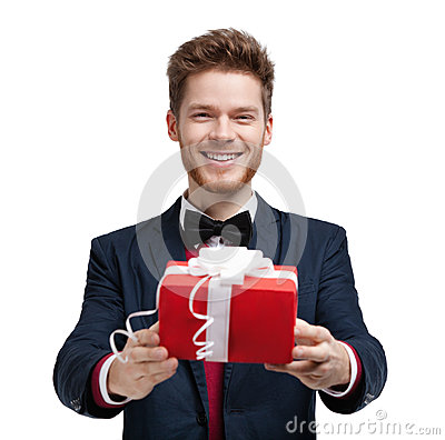 Man gives a present