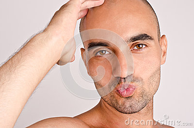 Man giving a kiss.