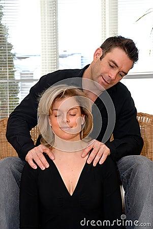 Man giving a massage