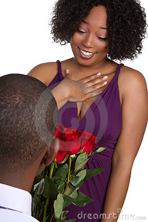 Man Giving Roses