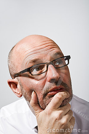 Image result for tall thin bald men with glasses pictures
