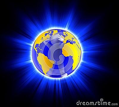 Man in globe