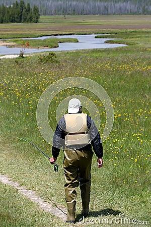Free Man Going Fishing Stock Photography - 160232