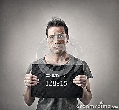 Free Man Going To Jail Royalty Free Stock Image - 37013216