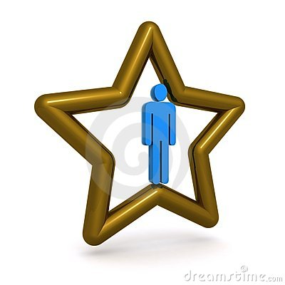 Man in gold star