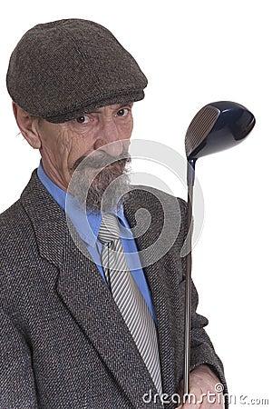 Man with golf club