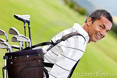 Man with a golf sack