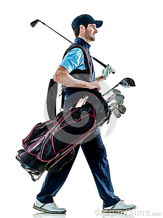 Free Man Golfer Golfing Isolated Withe Background Royalty Free Stock Photos - 89842728