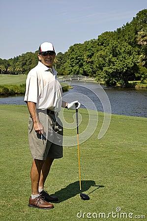 Man golfing