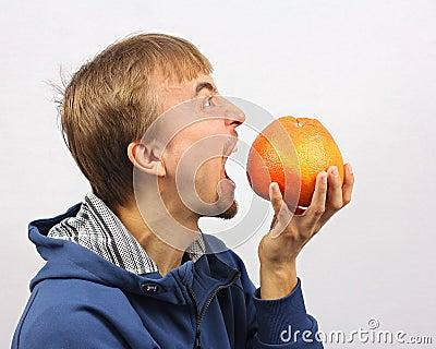 Man gone mad on fruit