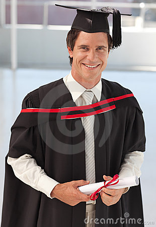 Free Man Graduating From University Royalty Free Stock Photos - 9098698