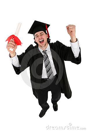 Man in graduation robes