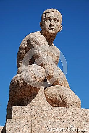 Free Man Granite Sculpture Royalty Free Stock Photography - 12563667