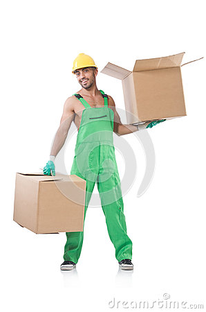Man in green coveralls