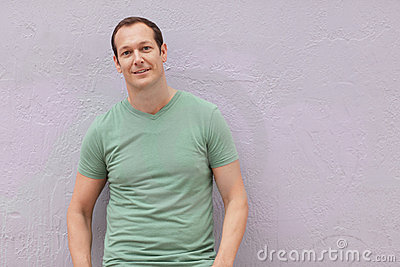 Man in a green shirt