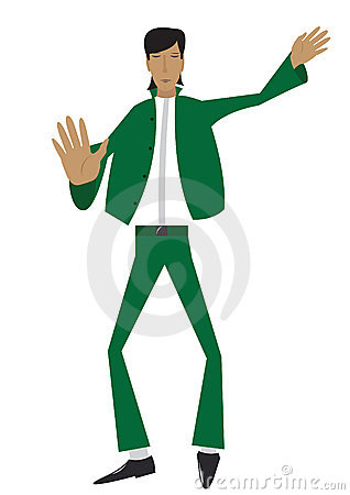 The man in green suit