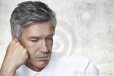 Man with grey hair