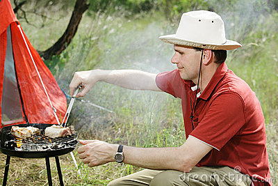Man with grill