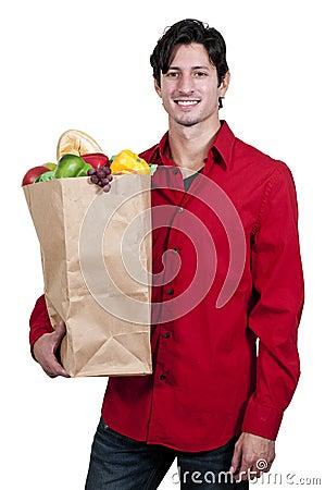 Free Man Grocery Shopping Stock Image - 26765151