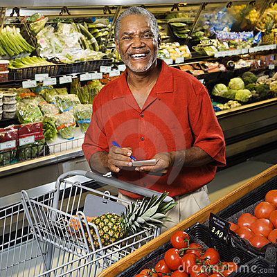 Free Man Grocery Shopping. Stock Images - 3470524