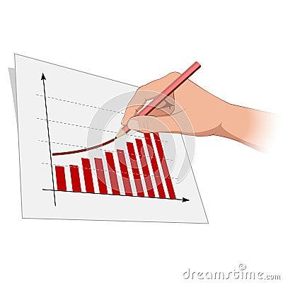 Man hand is drawing growth progress 2