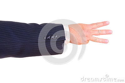 Man hand sign isolated