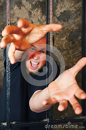 Man with hands stratching