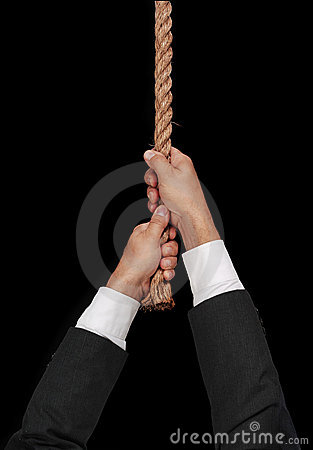 Free Man Hanging At End Of His Rope Stock Images - 1142474