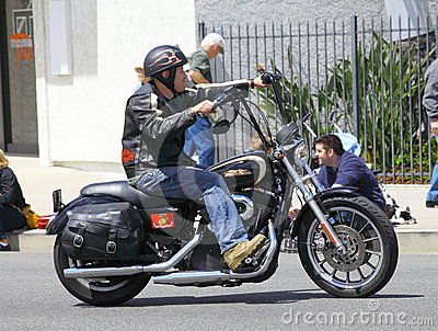 Man on a Harley Editorial Photo
