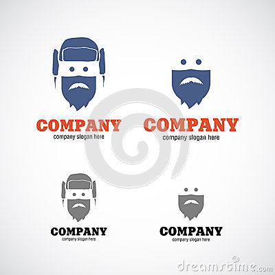Man in hat company logo