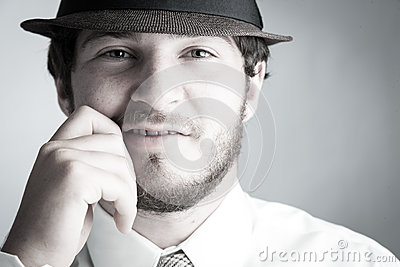 Man in hat and Tie