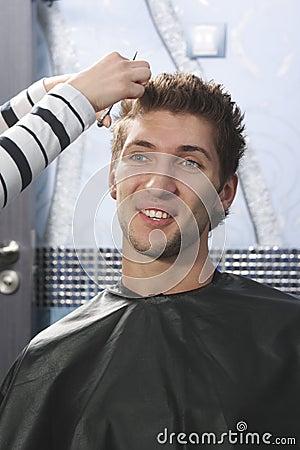 Man have haircut