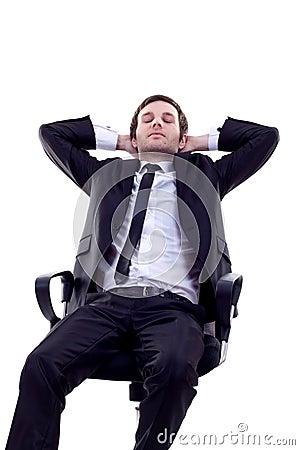 Man having a quick sleep