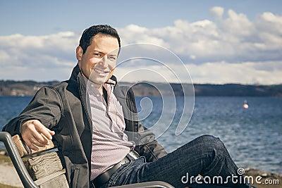 Man having a rest