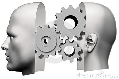 Man Head Thinking idea Gears Face