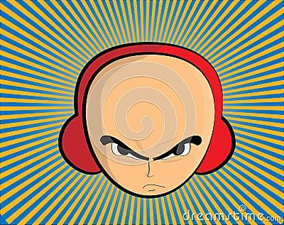 Man with headphones illustration