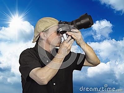 Man held camera